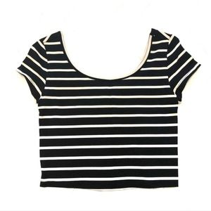 NWOT Mossimo Black and White Striped Top
